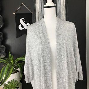 Lou & Grey batwing grey heathered cozy cardigan S